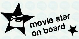 auto sticker • movie star on board