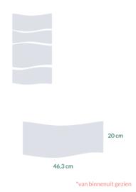 raamfolie op maat • Golven • 43,6 x 20 cm