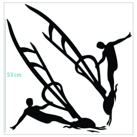 auto sticker 60 x 60 cm - windsurfers