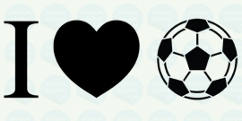 auto sticker • I love voetbal