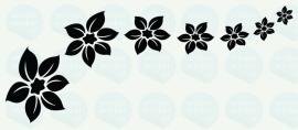 auto sticker • bloemen