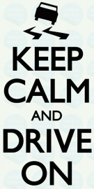 auto sticker • keep calm and drive on