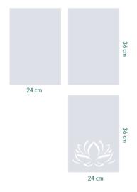 raamfolie op maat • Lotus • 3 stuks