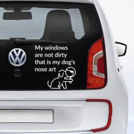 auto sticker • my dog's nose art