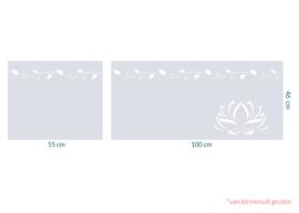 raamfolie op maat • Chique bladeren en Lotus • 2 stuks