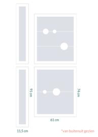 raamfolie op maat • Bollen en zonder motief • 4 stuks