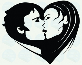 auto sticker • kiss