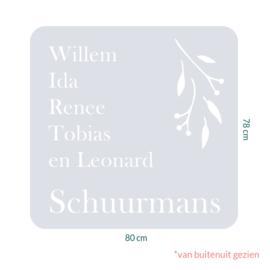raamfolie tegel op maat • Botanisch • 80 x 78 cm