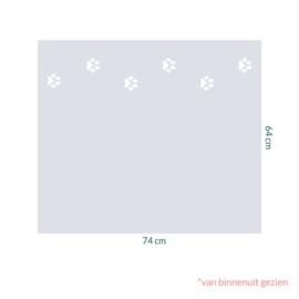raamfolie op maat • Hondenpootjes • 74 x 64 cm