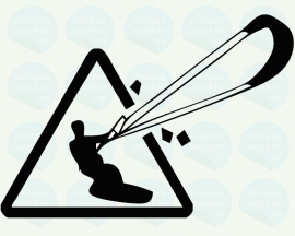 auto sticker • kitesurfer 2