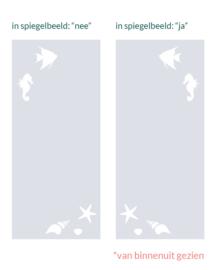 verticale statische raamfolie  • De Onderwaterwereld