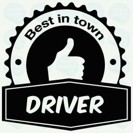 auto sticker • best driver