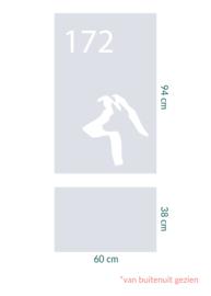 raamfolie op maat • Hond en huisnummer • 2 stuks