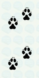 auto sticker • kattenpootjes