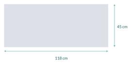 raamfolie op maat • 118 x 45 cm