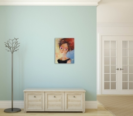 schilderij De dromende vrouw, 30 x 40 cm