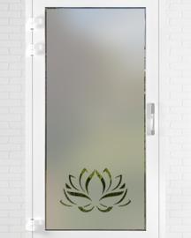 verticale statische raamfolie  •  Lotus