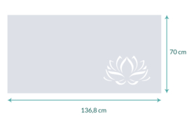 raamfolie op maat • Lotus bloem