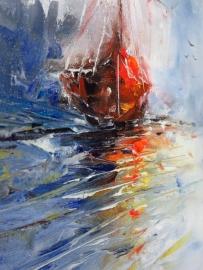 schilderij Het majestueuze zeilschip, 30 x 40