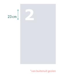 raamfolie op maat • Nummer 2 • 72 x  122 cm