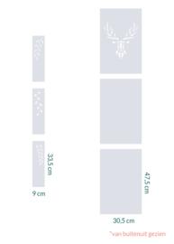 raamfolie op maat • Hert en Leaves • 6 stuks