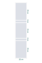 raamfolie op maat • Strepen • 24 x 115 cm