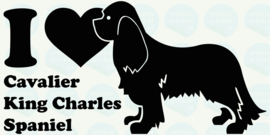 auto sticker • I love cavalier king charles spaniel