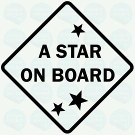 auto sticker • a star on board
