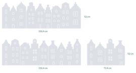 raamfolies op maat • Grachtenhuisjes • 3 stuks