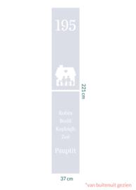 raamfolie op maat met namen • 37 x 221 cm