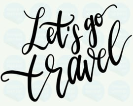auto sticker • let's go travel