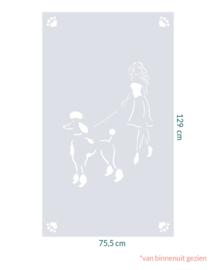 raamfolie op maat • Koningspoedel • 75,5 x 129 cm
