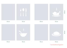 raamfolies op maat • Keuken • 16 stuks