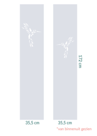 raamfolie op maat • Kolibrie • 2 stuks