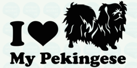 auto sticker • I love my pekingese