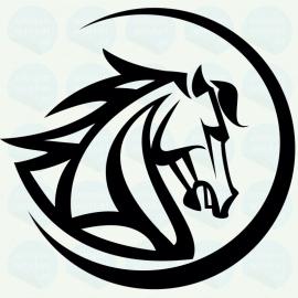 auto sticker • paard 6