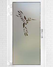 verticale statische raamfolie  •  Kolibrie