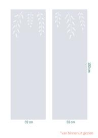 raamfolie op maat • Leaves • 2 stuks 32 x 100 cm