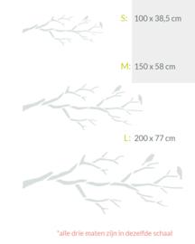 houten wanddecoratie • Vogels op Tak