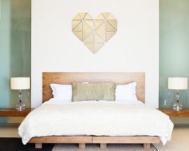 houten wanddecoratie • Origami Hart