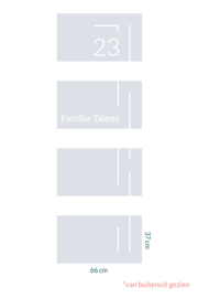 raamfolie op maat • Huisnummer 23 • 4 stuks