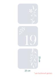 raamfolie tegels op maat • 3 stuks • 25 x 25 cm