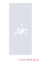 raamfolie op maat • Koffiekopje • 135 x 58 cm