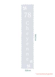 raamfolie op maat • Cheyenne • 32,8 x 166,3 cm