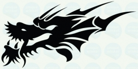auto sticker • dragon