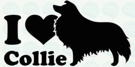 auto sticker • I love collie