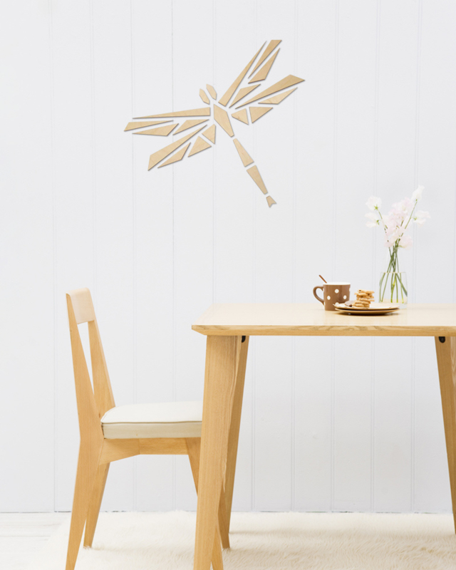 houten wanddecoratie • Origami Libelle