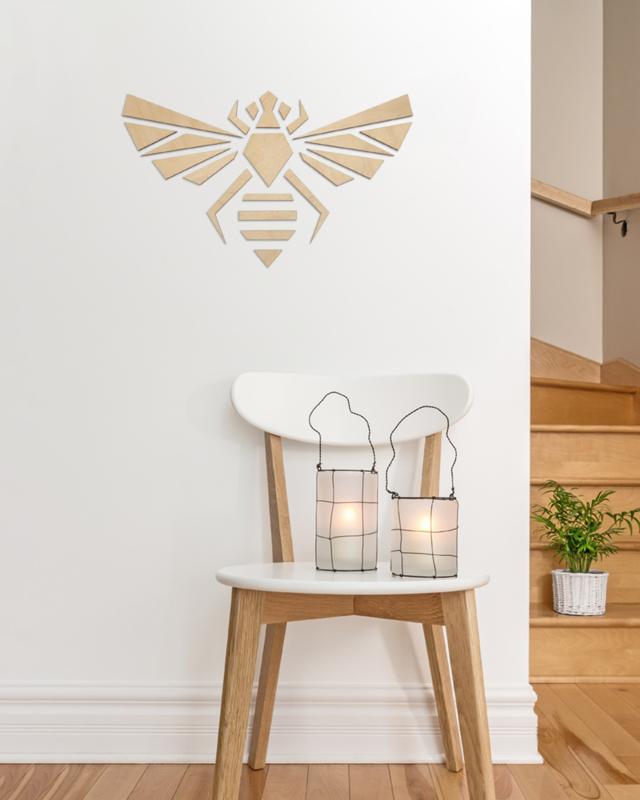 houten wanddecoratie • Origami Bij