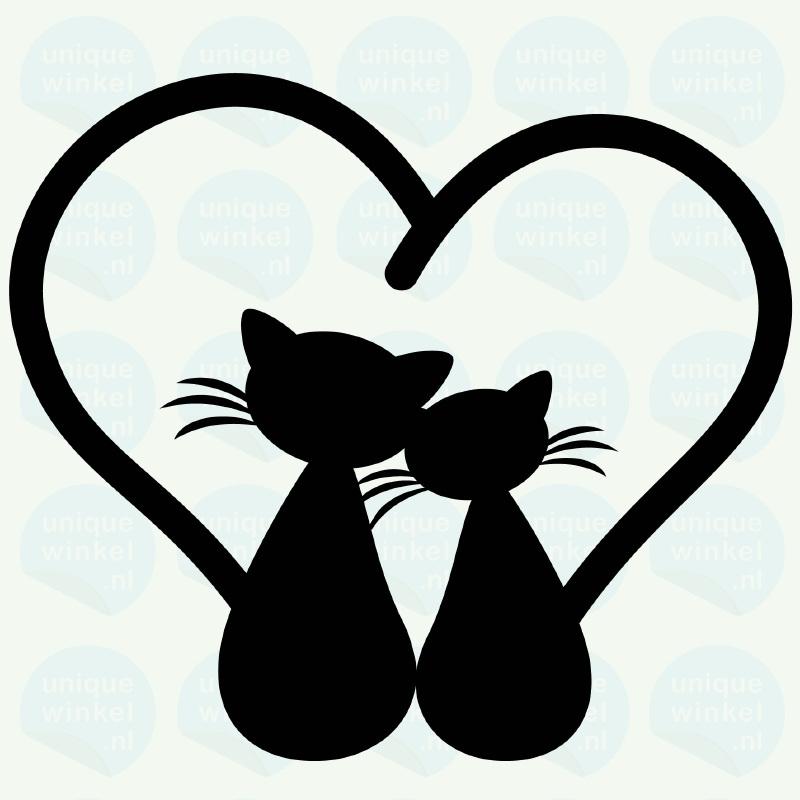 auto sticker • kattenliefde