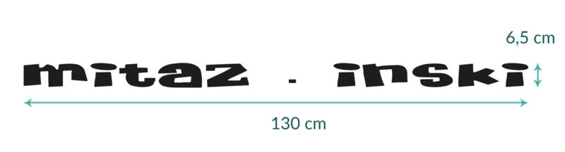 auto sticker • mitaz . inski • 130 x 6,5 cm  • 4 stuks